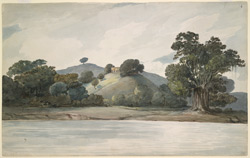 An English house on the bank of the Ganges, Colgong (Bihar). 24 September 1803